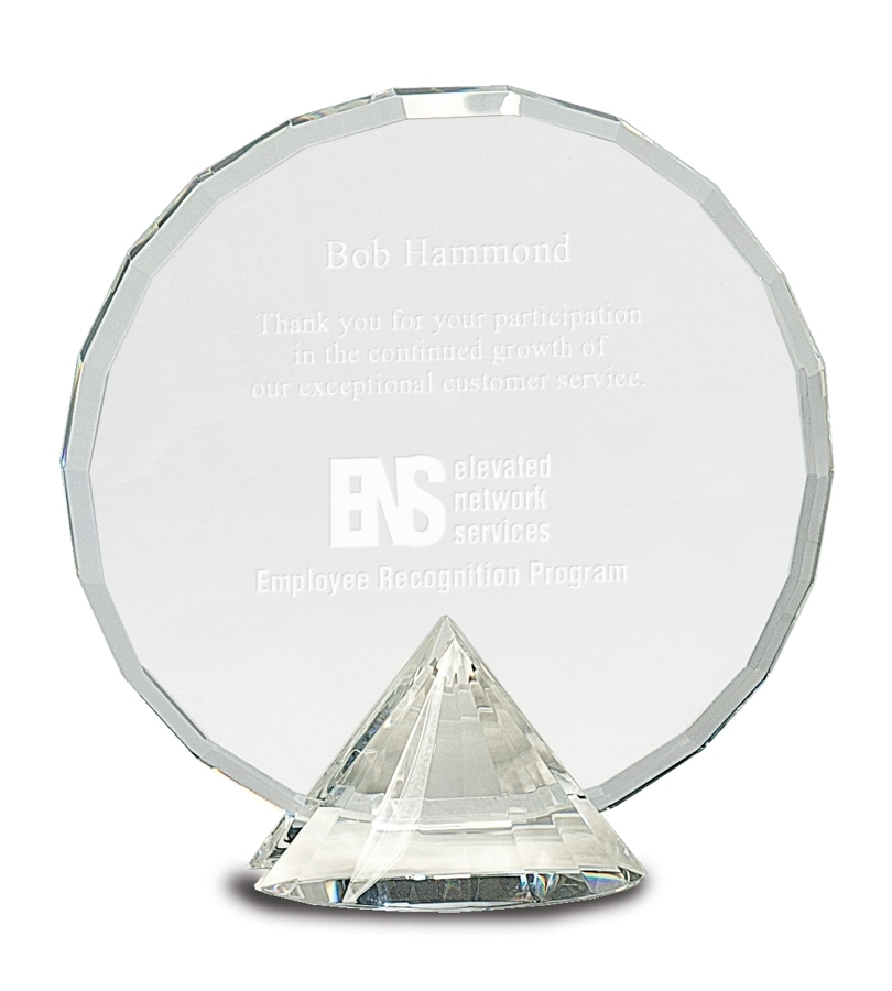 Crystal Award - Pedestal Crystal - Clear Pedestal