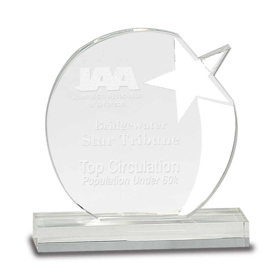 Crystal Award - Star Crystal - Clear Pedestal