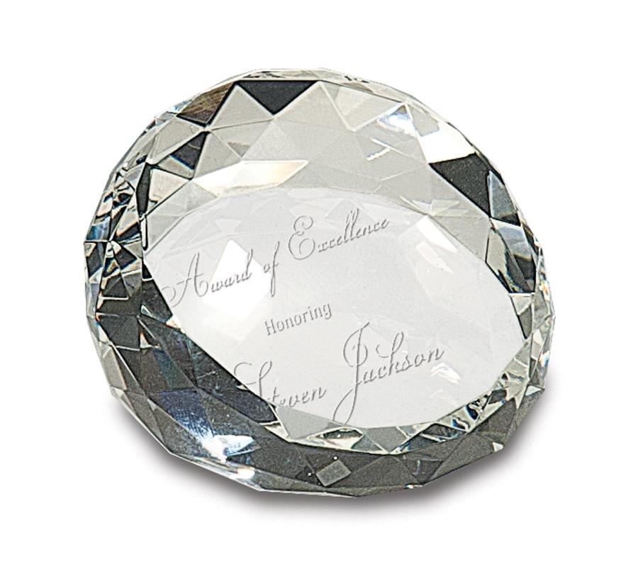 Crystal Award - Pedestal Crystal - Paperweights