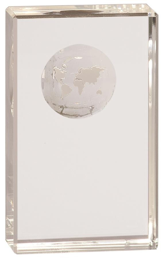 Crystal Award - Globes Crystal - Clear Pedestal
