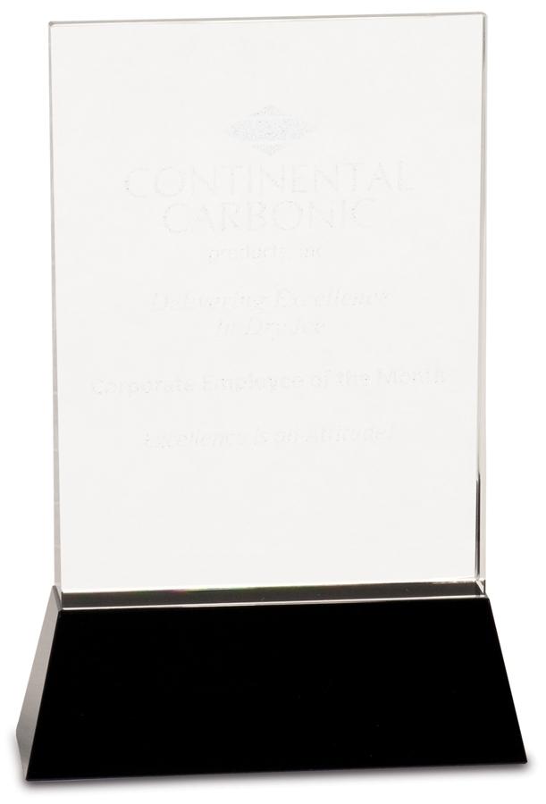 Crystal Award - Pedestal Crystal - Black Pedestal